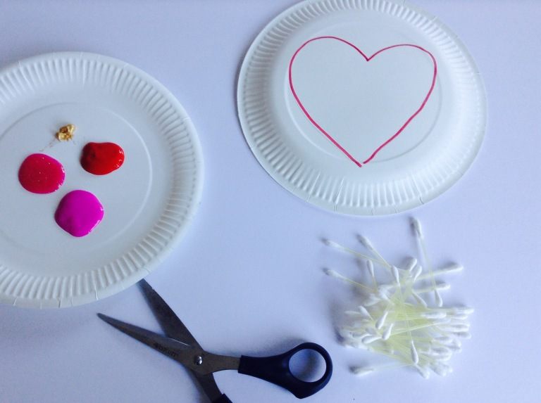 Heart Shapes Paper Plate Hats Kids Craft 1