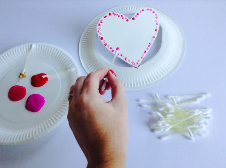 Heart Shapes Paper Plate Hats Kids Craft 2