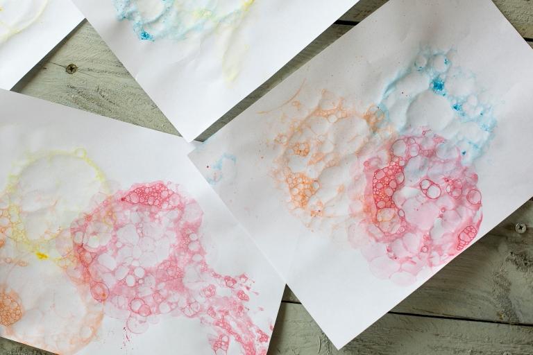 Bubble Painting Art